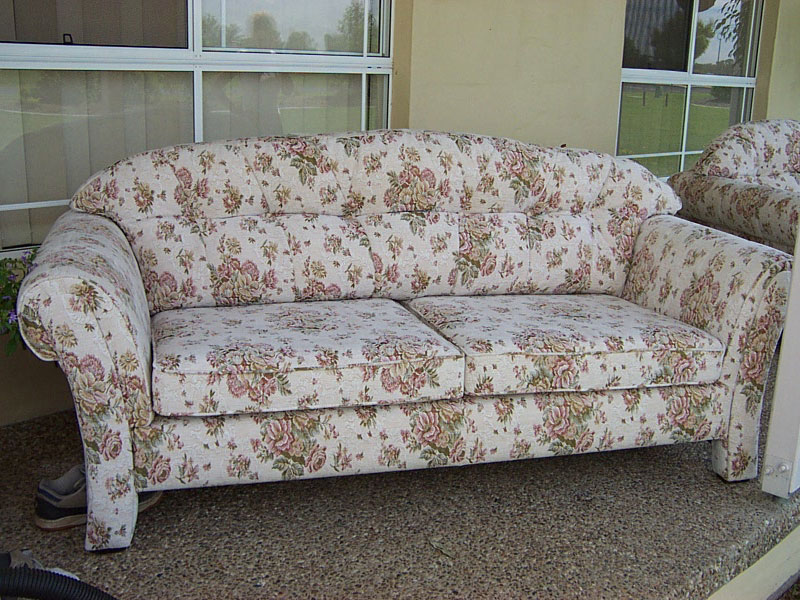three seater sofa with new fabric