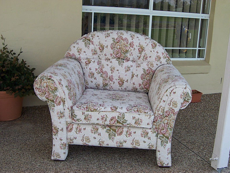 newly recovered armchair in Normandy