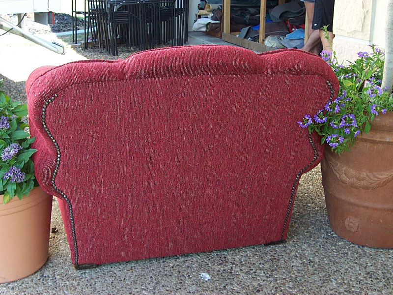 newly recovered armchair