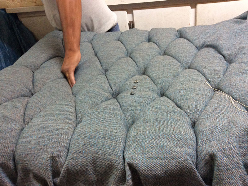 footstool upholstery