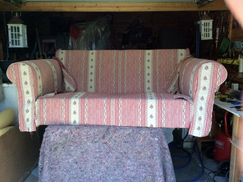 upholstery of sofa